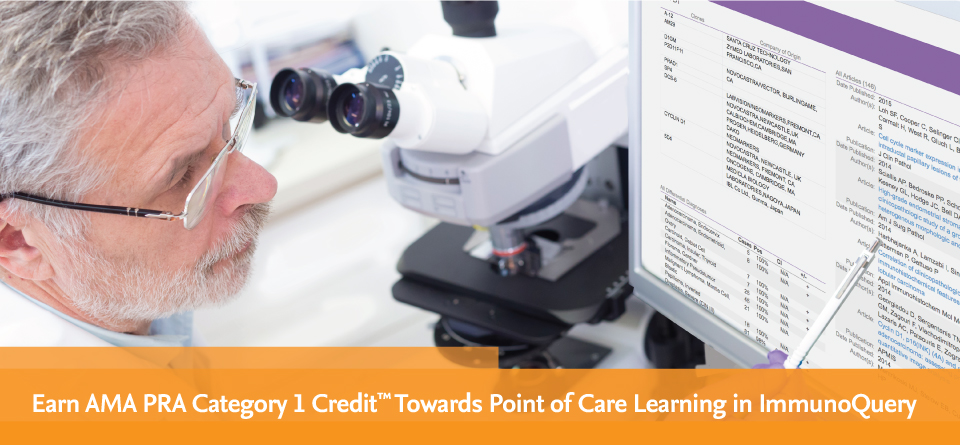 Earn AMA PRA Category 1 Credit™ Towards Point of Care Learning in ImmunoQuery